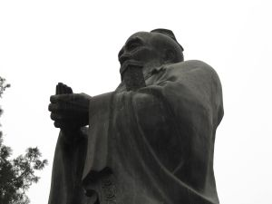 A statue of Confucius, Beijing.