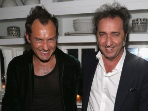 "Jude Law, Paolo Sorrentino==The Cinema Society Hosts the After Party for HBO's ""The Young Pope"" - EXCLUSIVE==Cafe Medi, NYC==January 11, 2017==©Patrick McMullan==Photo - Sylvain Gaboury/PMC===="