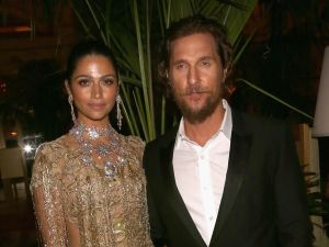 "Camila Alves, Matthew McConaughey== TWC-Dimension with Popular Mechanics, The Palm Court & Wild Turkey Bourbon Host the After Party for ""Gold""== The Palm Court at the Plaza Hotel, NYC== January 17, 2017== ©Patrick McMullan== Photo - Sylvain Gaboury/PMC== =="