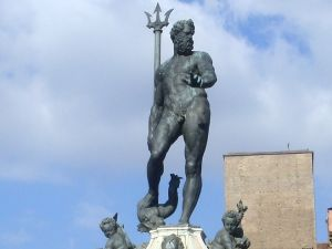 The Fountain of Neptune, by Jean de Boulogne, in Bologna, Italy.
