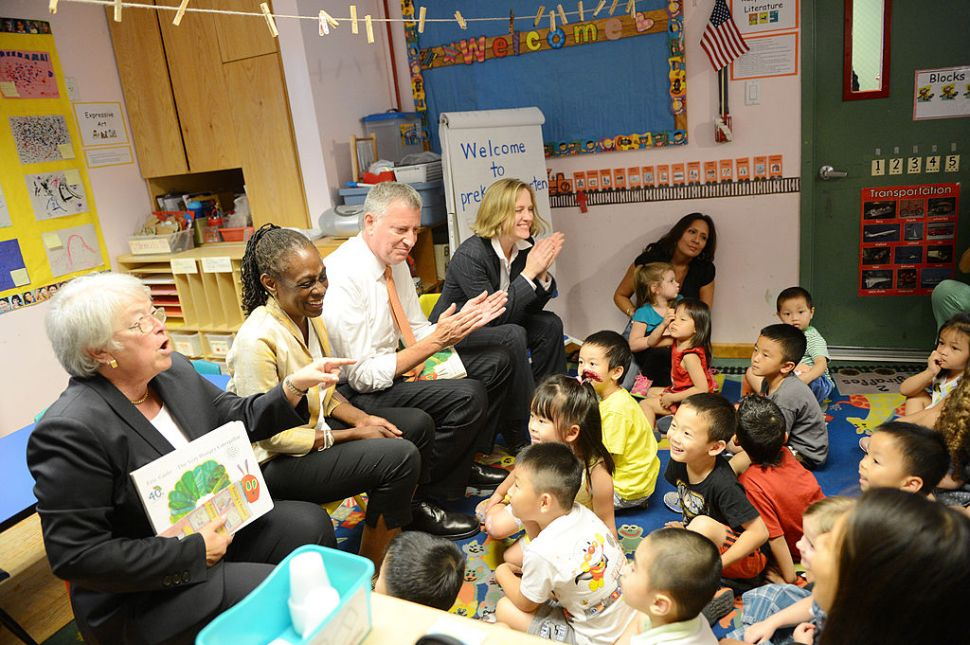 With Election Looming, Bill de Blasio Expands Pre-K for Toddlers