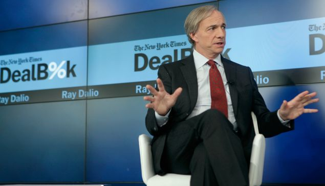 NEW YORK, NY - DECEMBER 11: Chairman and Co-CIO, Bridgewater Associates Ray Dalio speaks onstage during The New York Times DealBook Conference at One World Trade Center on December 11, 2014 in New York City.