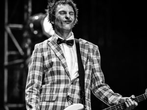 Tommy Stinson performs with The Replacements at Coachella 2014.