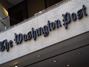 An October 12, 2015 photo shows the front of the Washington Post building.
