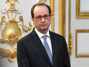 French President Francois Hollande at the Elysee Presidential Palace in Paris.