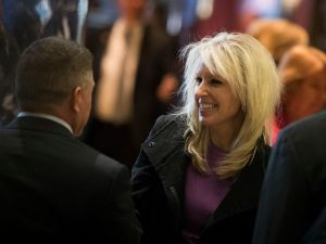NEW YORK, NY - DECEMBER 15: Monica Crowley, recently chosen as a deputy national security advisor in President-elect Donald Trump's administration, departs Trump Tower, December 15, 2016 in New York City. President-elect Donald Trump and his transition team are in the process of filling cabinet and other high level positions for the new administration.