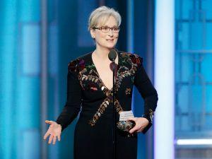 Meryl Streep at the 74th Golden Globe Awards.