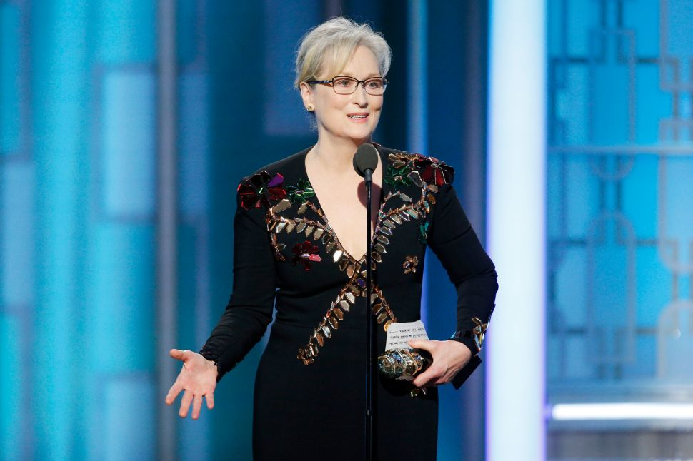 Imagined Dialogue For: Meryl Streep at the 74th Golden Globe Awards