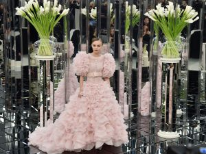 Lily-Rose Depp in Chanel Haute Couture.