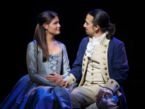 Lin-Manuel Miranda and Phillipa Soo in 'Hamilton.'