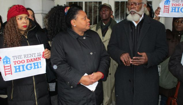 Jimmy McMillan, right, with candidate Dawn Miller