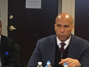 Newark Mayor Ras Baraka (left) and U.S. Senator Cory Booker say they will fight to protect NJ urban communities.