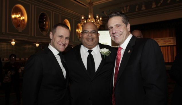 Rob Speyer, John Banks and Gov. Andrew Cuomo.