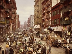 Mulberry Street, Manhattan, c. 1900.