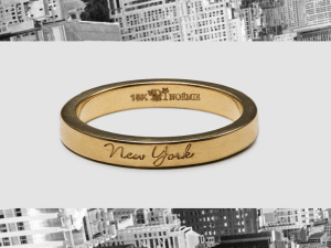"Rio, New York, Paris, Tokyo... Show how you ""Love Your City"" with this ring from Noémie"