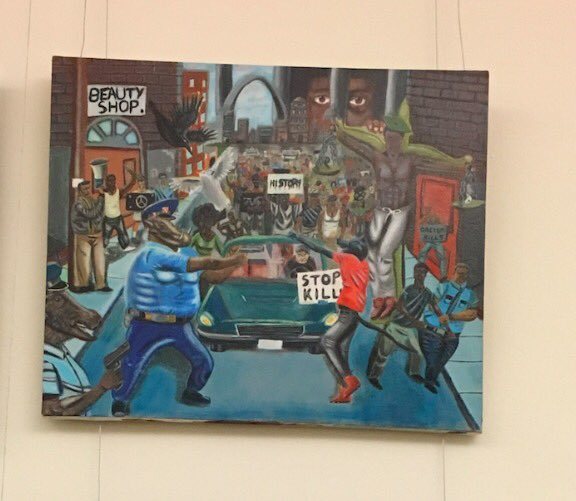 Get The Pork Out of Government! Police Brutality Painting Re-hung in Capitol