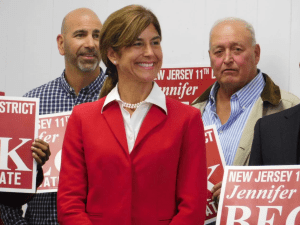 N.J. State Senator Jennifer Beck will face a challenge from one of the state's most influential Democratic county chairmen this year.