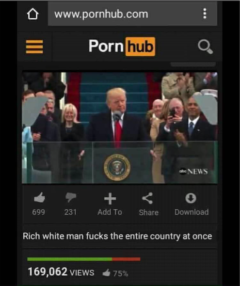 Tired of News? Head to PornHub to Watch Donald Trump Bang the Entire Country at Once