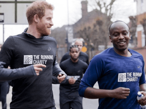 Prince Harry runs with