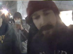 A screenshot of Shia's arrest incident.