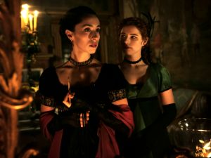 Oona Chaplin as Zilpha Geary and Jessie Buckley as Lorna Bow.