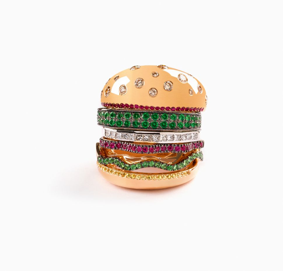 One of Beyoncé's Favorite Jewelry Designers Made a $7,500 Hamburger Ring