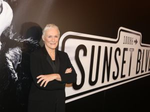 Glenn Close at the press event for Andrew Lloyd Weber's adaptation of Sunset Boulevard.