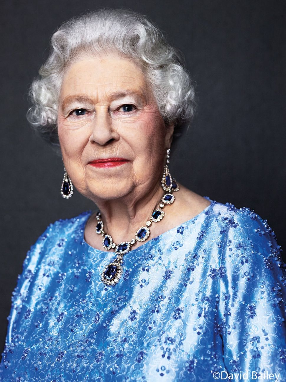 Queen Elizabeth Celebrates the Sapphire Jubilee With Lots of Sapphires