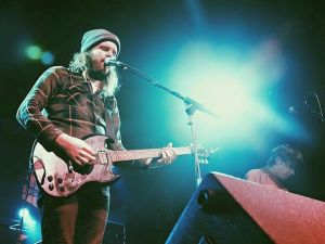 Cameron Boucher performing with Sorority Noise.