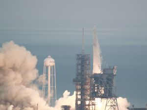 SpaceX's Falcon 9 at Launch Complex 39A, Kennedy Space Center.