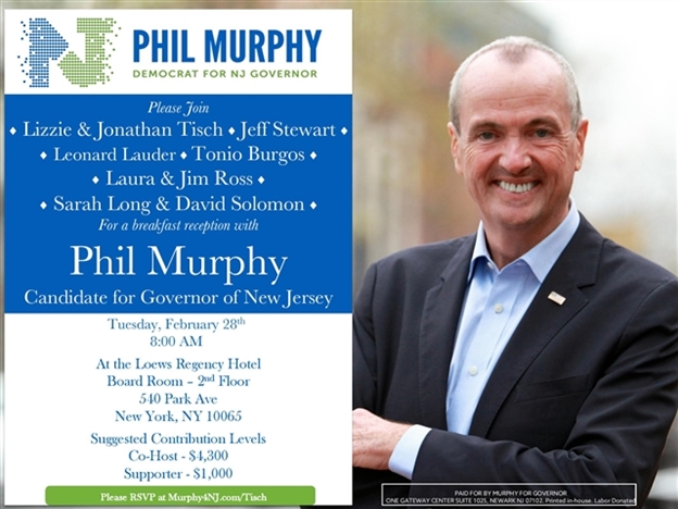 NJ Governor's Race 2017: The Week That Was (Feb 6 – Feb 12)