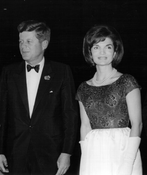 381257 17: President John F. Kennedy and First Lady Jackie Kennedy attend a ceremony January 18, 1963 in Washington, DC. (Photo by National Archive/Newsmakers)