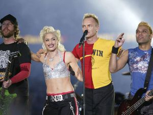 """Before Gwen Stefani was best known for worshipping Harajuku Girls and dating a country artist, she joined Sting onstage in San Diego. After Shania Twain sang """"Man, I Feel Like a Woman!"""" No Doubt joined Sting for """"Message in a Bottle."""" It was a ska, new wave influenced show that actually made sense, instead of simply plopping the number one artists of the year together on one stage and hoping for the best. Maybe Stefani and Shelton can duet next year, to lean into the current halftime model?"""