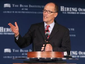 Former Secretary of Labor Thomas Perez, who is the establishment backed candidate for DNC chair.