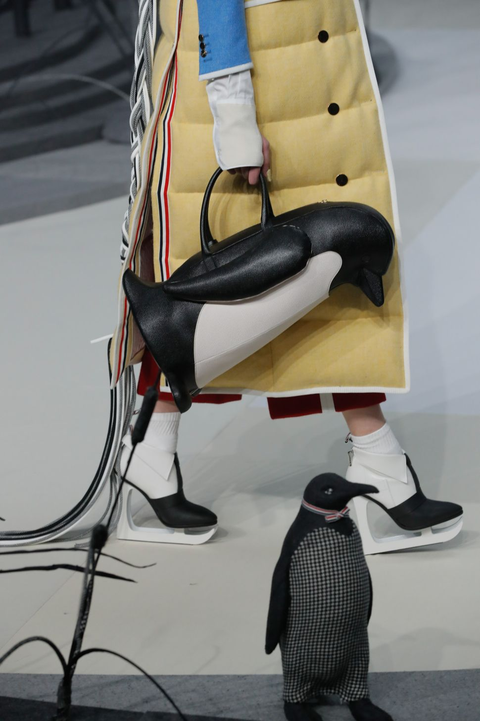 Penguin Bags & Ice Skate Heels at Thom Browne's NYFW Showing