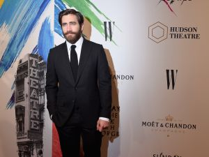 Actor Jake Gyllenhaal attends 'Sunday In The Park With George' Broadway opening night after party at New York Public Library.