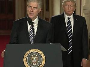Trump and his Supreme Court nominee.