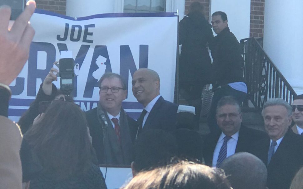 Cory Booker Endorses Cryan for New Jersey State Senate