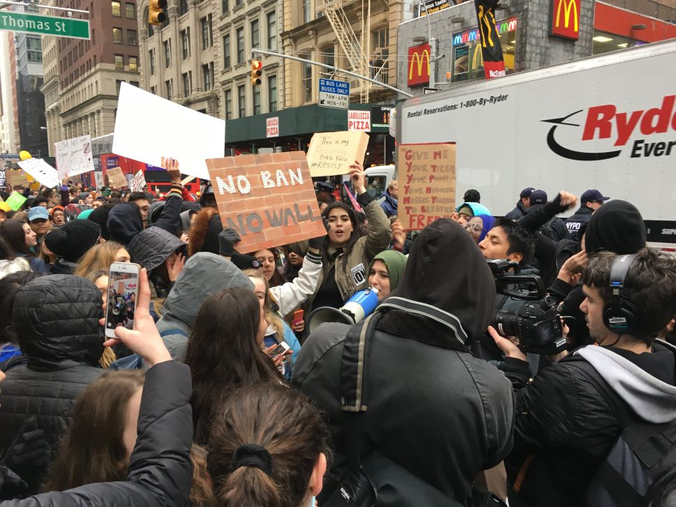 NYC High School Students Skip Class to Protest Trump
