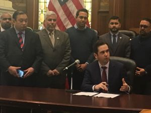Fulop signed an executive order re-affirming Jersey City as a sanctuary city.