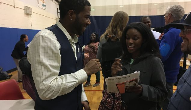 Brooklyn Councilman Jumaane Williams after his emergency forum on Donald Trump's executive orders in East Flatbush.