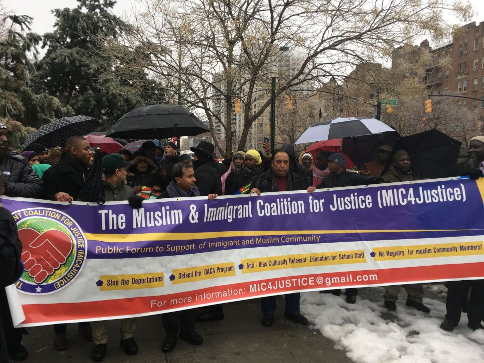 African Muslims March in the Bronx Against Trump's 'Un-American' Executive Orders