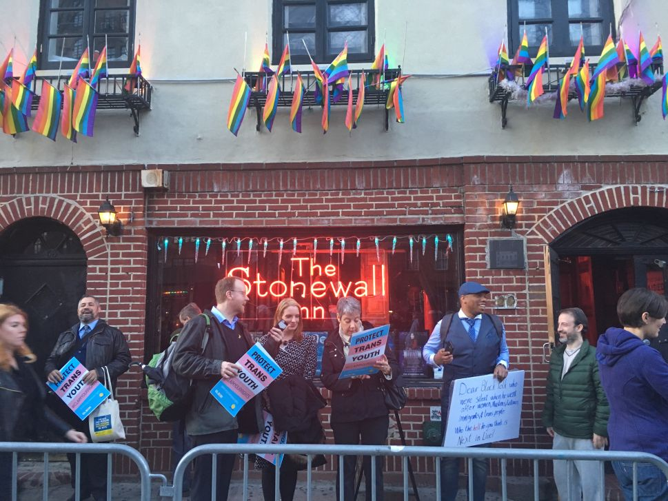 Advocates and Pols Rally at Stonewall Against Trump's New Transgender Policies