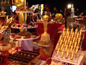 Chef Wolfgang Puck is providing numerous desserts, with the most popular being the 24-karat-gold chocolate Oscars