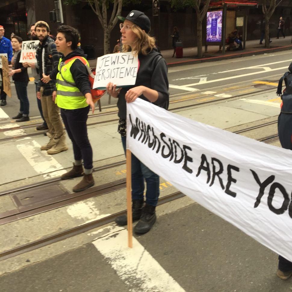 Jewish Demonstrators Shut Down California St. in San Francisco to Protest Bibi
