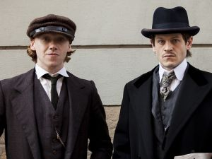 Rupert Grint as August Kubizek and Iwan Rheon as Adolf Hitler.