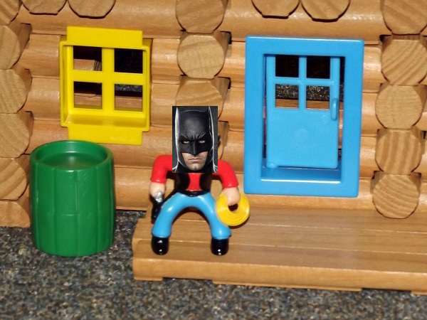 A Quick Word From: Lincoln Log Batman From the 'The Lincoln Log Batman Movie'