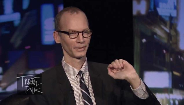 Charles Isherwood appears on the PBS show Theater Talk in 2011.