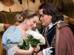 "Diana Damrau and Javier Camarena in 'I Puritani."""