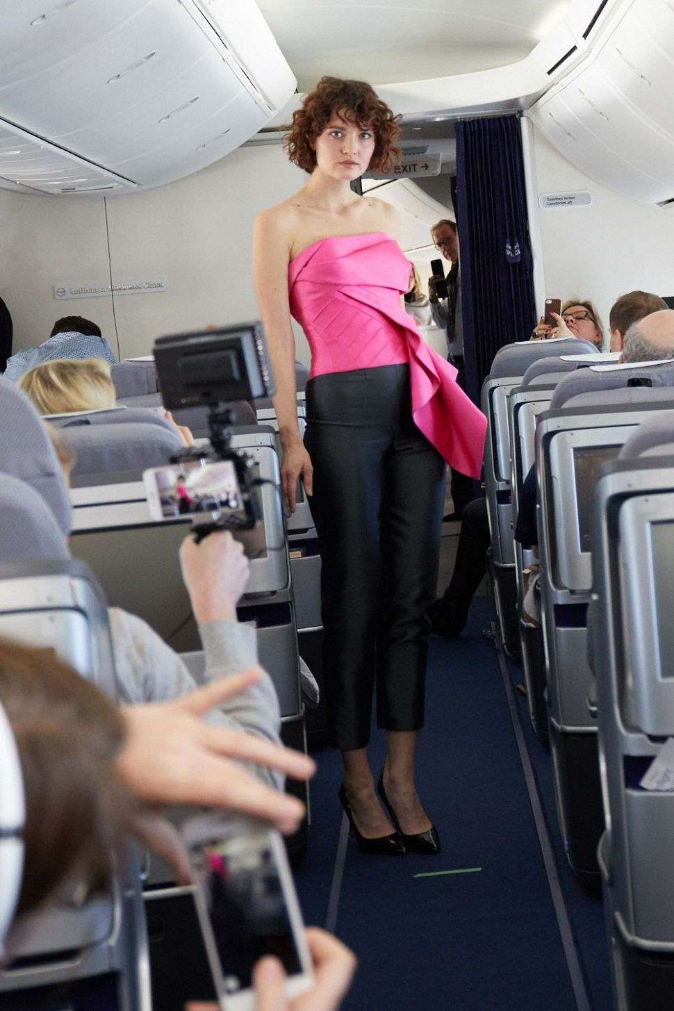 This Fashion Designer Just Held a Fashion Show on a Plane
